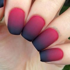 Matte Red Ombre Nails There is no need to wonder ho - Uñas Coffing Maquillaje Peinados Tutoriales de cabello Red Ombre Nails, Nails Yellow, Glitter Nails, Ombre Nail Designs, Nail Art Designs, Nails Design, Cute Nails, Pretty Nails, How To Do Ombre