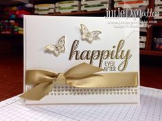 The Paper Pixie: Stampin' Up! Happily Ever After Wedding Card