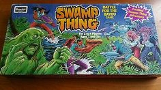 Swamp thing rose art vintage board game 03040 1991 battle for the bayou