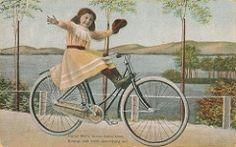 kind am fahrrad 1910 (H A T S C H I B R A T S C H I) Tags: girl bike bicycle vintage bicycling grafik 1900 oldtimer 1910 velo fahrrad vintagebicycle graphik waffenrad bicykel veloancien oldtimerfahrrad fahrradoldtimer