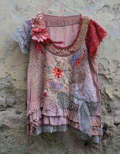 RESERVED TO B.B.Peonyromantic embroidered tunic by FleurBonheur, $107.00