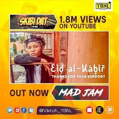 @Regrann from @viktoh_ybnl - BARKA DE SALLAH To All My Muslim FANS  Thank You All For Your Love & Support  SKIBI DAT 1.8million Views on YouTube.  MAD JAM Ft @iam_ycee Now Out. Go Cop yours  LINK in my (@viktoh_ybnl) bio  #WehSehMudiaFoh