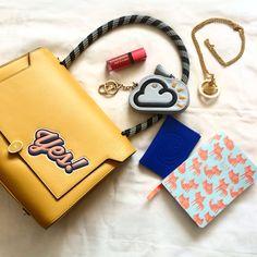 Anya Hindmarch Flatlay SS15 #fashionblogger #blog #bunnipunch www.bunnipunch.co.uk