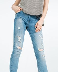 aa3fb47f83c Image 2 of FADED JEANS from Zara