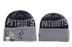 Mens / Womens New England Patriots New Era Navy / Heather Gray NFL Throwback Cover Cuffed Knit Beanie Hat
