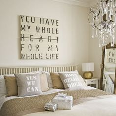 Awww... this would be perfect for our house. Its the saying we used on our wedding invites/programs