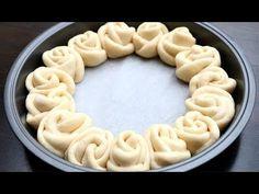 Rose Buns Recipe | Flower Bread Super Soft & Chewy Milk Bread Rolls - YouTube