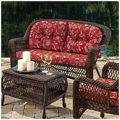 Nice For Entertaining Sure Wilson Fisher Savannah Resin Wicker Cushioned Sofa At Lots