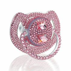 to blingy for a little girl, hmmmm I don't know, but I do know the hubby would never let me spend how much they want for you... for a pacifier, yikes