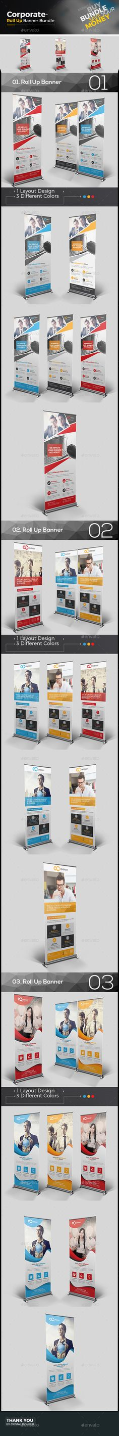 Corporate Roll-up Banner | Banner template, Illustrators and Ai ...