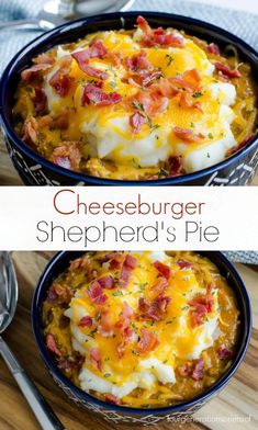 Impossible Bacon Cheeseburger Shepherd's Pie Four Generations One Roof is part of pizza - Delicious bacon impossible cheeseburger shepherd's pie by Betty Crocker Quick easy dinner for during the week + Juicy cheesy burger mixed with potato! Easy Baking Recipes, Cooking Recipes, Bread Recipes, Crockpot Recipes, Carrot Recipes, Fudge Recipes, Rice Recipes, Soft Food Recipes, Jiffy Mix Recipes
