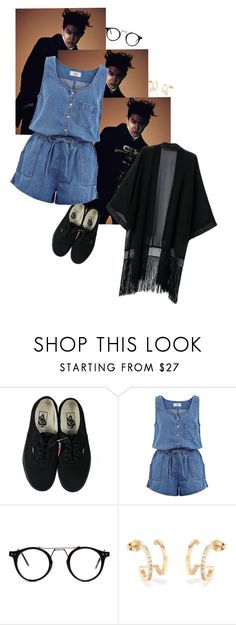 """""""chocolate chip cookie"""" by lovemelikeyourlast ❤ liked on Polyvore featuring Vans and New Look"""
