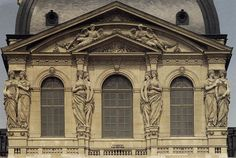 Jacques Sarazin. Caryatids on the Pavilon d Horologe. 1641   Flickr - Photo Sharing!