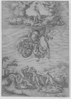 Nicolas Béatrizet d'après Michel-Ange, La chute de Phaëton, XVIe