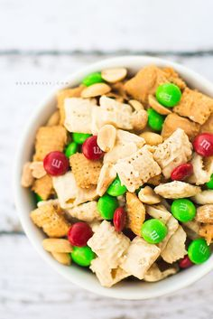 Chex Party Mix: PB & Chocolate Blast recipe - this makes a great holiday themed snack!
