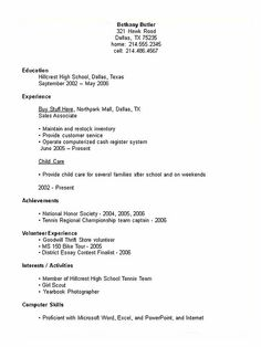 First Job Resume   Google Search | Aivan Roca Andal | Pinterest | Job Resume,  Sample Resume And Job Cover Letter