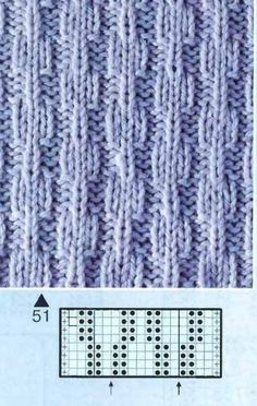 Simple stitch but very effective Knitting Charts, Easy Knitting, Knitting For Beginners, Knitting Socks, Knitting Stitches, Stitch Patterns, Knitting Patterns, Crochet Patterns, Knitting Designs