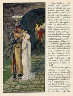 Artuš Scheiner illustration from a Romance About The Faithful Friendship Of Amis And Amil A novel written by Julius Zeyer