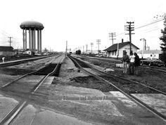 Water tower by 66 Street and 121 Avenue I Am Canadian, Western Canada, Water Tower, Alberta Canada, Back In The Day, Old Photos, Railroad Tracks, Past, History