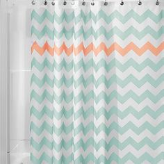 Green Polyester Shower Curtain for Bath Room Simple Wave Striped Printed Waterproof Hook Shower Curtains 450g Bathroom Products