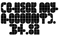 Cascabel was built on a modular harmony and creates visibly maze-like geometric structures. When typeset in complete words, it conveys an unmistakable architectural approach to a design project. Ideal for magazines, posters or flyers, Cascabel is an alphabet functionally defined by a concept similar to that of building blocks. Designed By Ariel Di Lisio and digitized by Ale Paul.