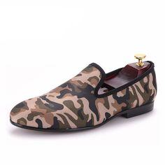 Desert Khaki Handmade Camouflage Loafers