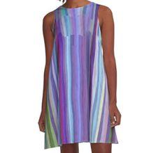 A-Line Dress Fab Arty Stripes