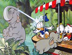 donald duck on the jungle cruise
