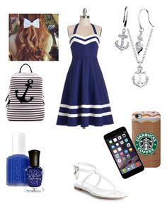 Untitled #23 by knipphannah on Polyvore featuring polyvore fashion style Bea & Dot Alexander McQueen Dasein BERRICLE Blue Nile Essie Deborah Lippmann clothing