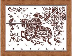 Knight with a spear jumps on a horse - Sampler alphabet patterns for embroidery cross stitch - Cross stitch pattern geometric pdf ONLY PATTERN Design consists of elements of schemes from old magazines. Stitches used: X-stitch Stitched area: 279w X 297h Stitches Size: 14 Count,