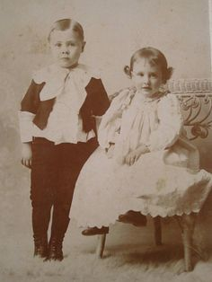 Two 1800s Children Vintage Cabinet Card Photography posted by surfbeaver, $7.50. Own a piece of 19th century photographic history!