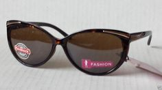 Foster Grant women sunglasses  cat eye style ANIMATED model brown with pouch #FosterGrant #CatEye