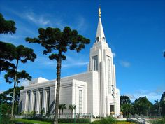 Click to enlarge this image of the Curitiba Brazil Mormon Temple