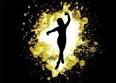 A poster for Displate of a dancer in third pose. Splatter Art, Print Artist, Cool Artwork, Third, Dancer, Poster Prints, Poses, Metal, Green