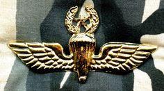 GREECE Parachutist Navy Master qualification metal current