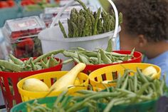 Local farmers markets are beginning to open for the season. Fundraising Events, Farmers Market, Asparagus, Green Beans, Benefit, Dining, Vegetables, Food, Eten