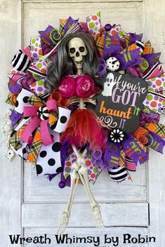 Halloween Skeleton Wreath, Whimsical Halloween Wreath, Funny Halloween Wreath, Halloween Decor, Skeleton Decor, Halloween Party Whimsical Halloween, Halloween Looks, Halloween 2020, Funny Halloween, Halloween Party, Halloween Wreaths, Halloween Skeletons, Skeleton Decorations, Halloween Decorations