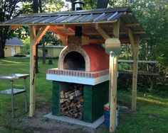 Wood-Fired Outdoor Brick Pizza Oven by the Shetka Family | BrickWood Ovens