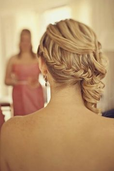 Photos of beautiful options for wedding hairstyles with braids and weave