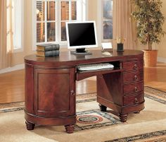 coaster shape home office computer desk. Wonderful Shape Traditional Kidney Shaped Computer Secretary Writing Desk By Coaster Home  Furnishings 64124 Some Assembly With Shape Office I