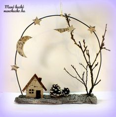 Természetes téli dekoráció - Manó kuckó