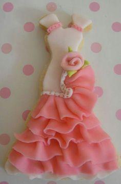 Sweet Flamenco Dress Cookie