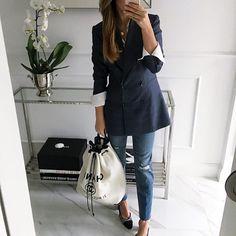 the fashion blazer- METZ Mint Label #blue #style #fashion #style #look #ootd #inspiration #instafashion #jacket
