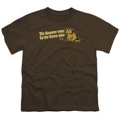 GARFIELD/TO KNOW ME IS TO LOVE ME - S/S YOUTH 18/1 - COFFEE -