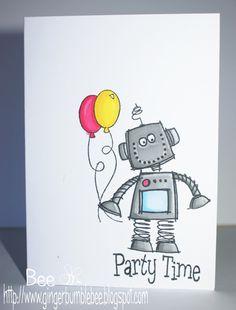 Free Robot Birthday Card Printable For Boys