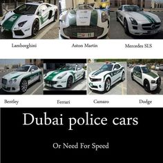 If my mate drove this as their vehicle I would have to take a drive!!!   Dubai police cars!!! Supercar Show trade center the #Lamborghini #Bentley #MercedesSLS treated onlookers to a rev of their engines and a flash
