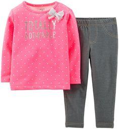 Amazon.com: Carter's Baby Girls' 2 Piece Legging Set (Baby) - Adorable: Clothing