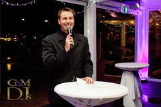G&M DJs awarding winning wedding MC Glenn Mackay at a reception at the Landing at Dockside Brisbane | Magnifique Weddings #gmdjs #magnifiqueweddings #glennmackay #lightingdesign #thelandingatdockside @gmdjs