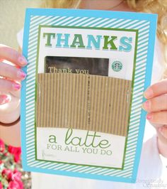 Thanks a Latte Teacher Appreciation (link to free printable that comes out perfect!)