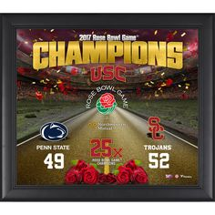 "USC Trojans Fanatics Authentic Framed 15"" x 17"" 2017 Rose Bowl Champions Collage - $49.99"